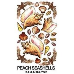 Kalkomania artystyczna - Peach Seashells