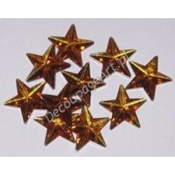 Kryształki dekoracyjne gwiazdy duże 10 szt złote