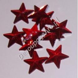 Kryształki dekoracyjne gwiazdy duże 10 szt czerwone