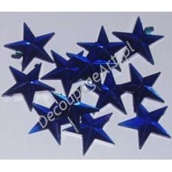 Kryształki dekoracyjne gwiazdy duże 10 szt niebieskie