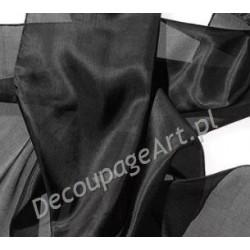 Szal jedwabny Pongee - czarny 180x45cm