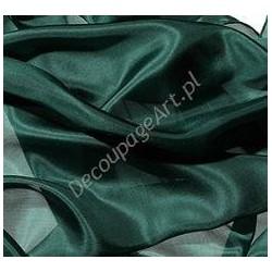 Szal jedwabny Pongee - ciemno-zielony 180x45cm