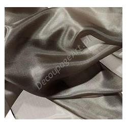 Szal jedwabny Pongee - khaki 180x45cm