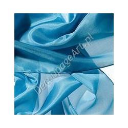 Szal jedwabny Pongee - jasno-niebieski 180x45cm
