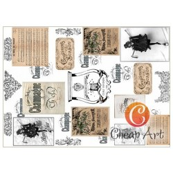 Papier do decoupage soft Cheap-Art A3 Champagne