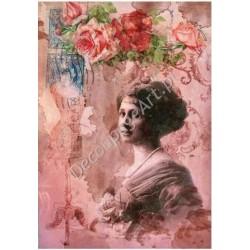 Papier ryżowy do decoupage Digital Collection 099 Dama i róże