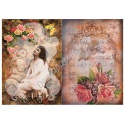 Papier ryżowy do decoupage Digital Collection 100 Dama i róże