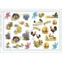 Papier do decoupage ITD 375 - Wielkanoc kurczaczki i koguty