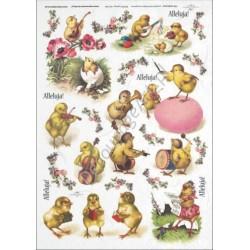 Papier ryżowy ITD Collection 284 - Kurczaczki Alleluja