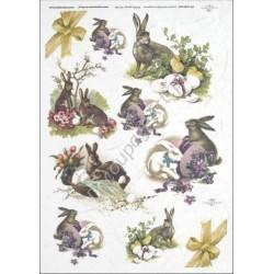 Papier ryżowy ITD Collection 286 - Zajączki i króliczki