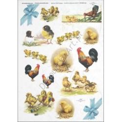 Papier ryżowy ITD Collection 288 - Kurczaczki i koguty