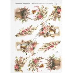Papier ryżowy ITD Collection 301 - Wielkanocne bazie