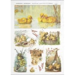 Papier ryżowy ITD Collection 302 - Wielkanocne kaczuszki