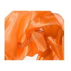 Szal jedwabny Pongee - pomarańczowy 180x45cm