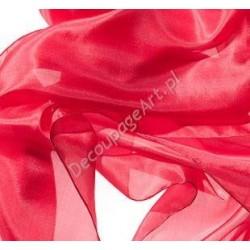 Szal jedwabny Pongee - czerwony 180x45cm