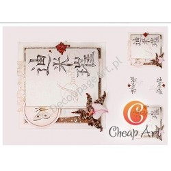 Papier do decoupage soft Cheap-Art A3 Chiński motyw