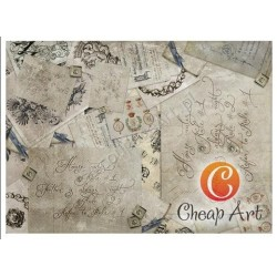 Papier do decoupage soft Cheap-Art A3 Domowe prawa