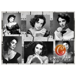 Papier do decoupage soft Cheap-Art A3 Elizabeth Taylor