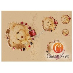 Papier do decoupage soft Cheap-Art A3 Kochany miś