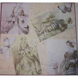 Papier do decoupage Dayka 201 Damy