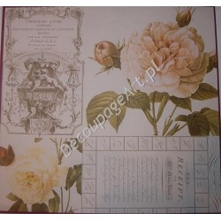 Papier do decoupage Dayka 203 Róża