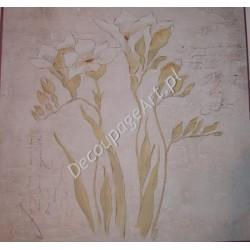 Papier do decoupage Dayka 205 Białe kwiaty