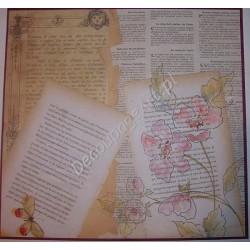 Papier do decoupage Dayka 250 Pismo i kwiat