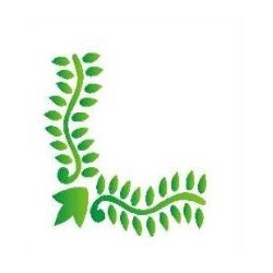 Szablon narożnik 49 liście - 12 x 15 cm