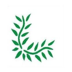 Szablon narożnik 50 liście - 12 x 15 cm