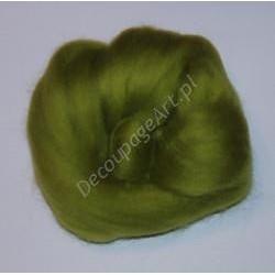 Czesanka merynos australijski 10g - 1706 majowy zielony