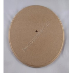 Zegar - tarcza zegarowa z MDF 025 - owalny