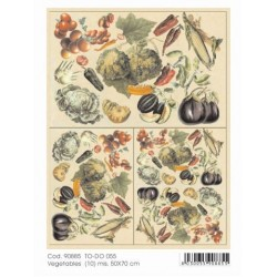 Papier do decoupage Soft 50x70 Vegetables 055