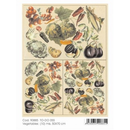 Papier do decoupage Soft 50x70 Vegetables 055