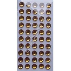 Kryształki samoprzylepne bursztynowe 6 mm