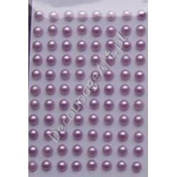 Półperełki samoprzylepne 3 mm jasno-liliowe