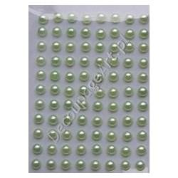 Półperełki samoprzylepne 3 mm jasno-zielone