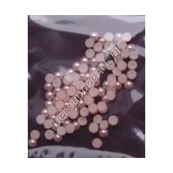 Półperełki 4 mm ok. 100 szt jasno-różowe
