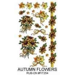 Kalkomania artystyczna - Autumn Flowers