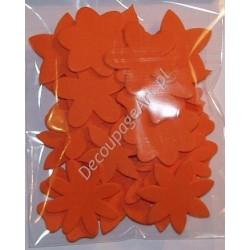Elementy kwiatowe z mikrogumy 36 szt. - pomarańczowe
