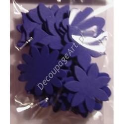 Elementy kwiatowe z mikrogumy 24 szt. - ciemno-niebieskie