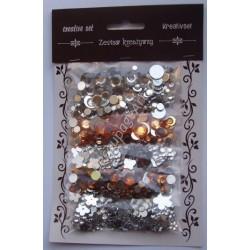 Zestaw kamyczków dekoracyjnych mix - transparentne i miodowe