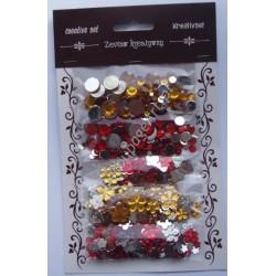 Zestaw kamyczków dekoracyjnych mix - czerwone i złote