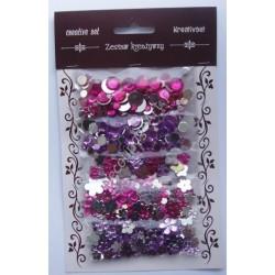 Zestaw kamyczków dekoracyjnych mix - różowe i fioletowe