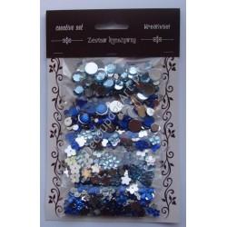 Zestaw kamyczków dekoracyjnych mix - odcienie błękitu