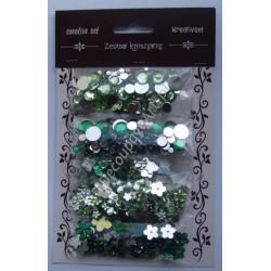 Zestaw kamyczków dekoracyjnych mix - odcienie zieleni