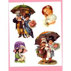 Kalkomania Arte - Pod parasolem