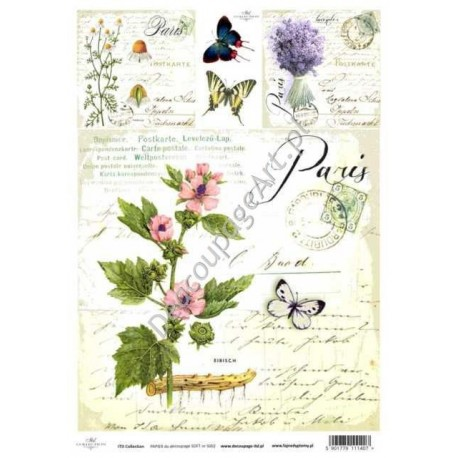 Papier do decoupage ITD SOFT 002 - Zioła kwiaty