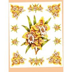 Kalkomania Arte - Żółto-pstrokate kwiaty