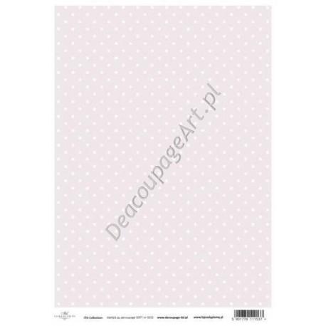 Papier do decoupage ITD SOFT 015 - Różowe tło z kropeczkami