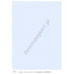 Papier do decoupage ITD SOFT 017 - Błękitne tło z kropeczkami